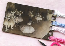 Ballet Dancers Vintage Postcard Threadkeep