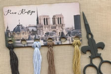 Paris Rooftops Vintage Postcard Threadkeep