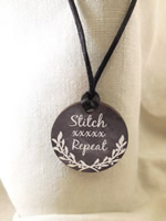Stitch xxxxx Repeat Necklace