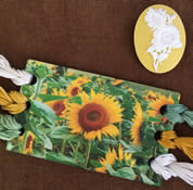 Sunflowers Vintage Postcard