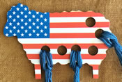 USA Flag Sheep Threadkeep